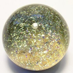 Golden Galaxy Art Glass Marble by Mark Black 30mm
