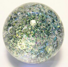 Emerald Galaxy Art Glass Marble by Mark Black 31mm