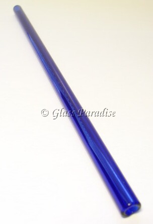 Handmade Cobalt Blue Glass Drinking Straw by Glass Paradise