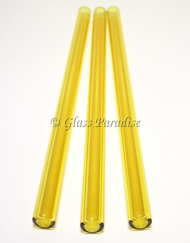 Smoothie Set of Custom Citron Glass Drinking Straws by Glass Paradise