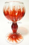 Scarlet Fire Art Glass Goblet by Justin