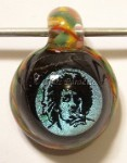 Irie Rasta Dichroic Art Glass Focal Pendant by Mark Black