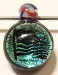 God Bless America Dichroic Art Glass Focal Pendant by Mark Black