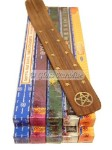 100g Nag Champa Incense Gift Pack Wicca Pentacle Burner