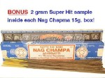 FRESH Original Nag Champa Incense Sticks - 15 gram box