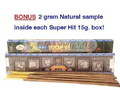 Nag Champa SUPER HIT Stick Incense 15g. box