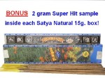 FRESH Satya NATURAL Incense Sticks 15 gram box