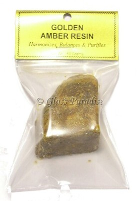 50 Gram Golden Amber Resin Incense Organic Aphrodesiac Perfume