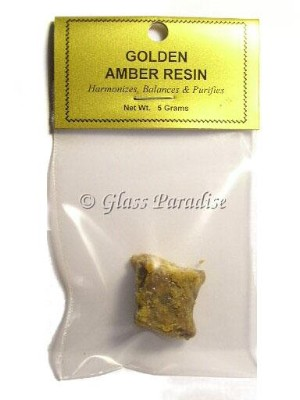 5 Gram Golden Amber Resin Incense Love Healing Meditation