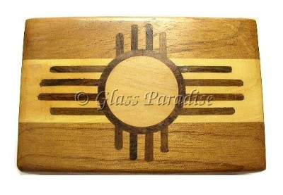 Zuni Sun Carved Wood Box *Resin Incense Gift Pack