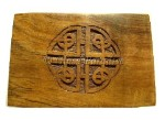 Celtic Carved Wood Box *Resin Incense Gift Pack
