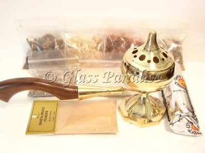 Resin Censer Incense Burner Starter Kit~Wicca Gift Pack
