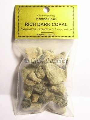 Rich Dark Copal Resin South American Shaman Incense 3/4 oz.