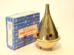 Brass Cone Incense Burner w/ Nag Champa *Bliss Meditation Yoga