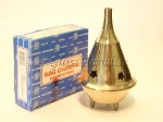 Brass Cone Incense Burner w/ Nag Champa *Om Meditation Yoga