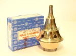 Brass Cone Incense Burner w/ Nag Champa *Sacred Meditation Yoga