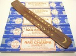 Nag Champa Stick Incense Five 15 gram boxes - Moon ash catcher