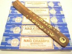 Nag Champa Stick Incense Five 1 gram boxes - Yin Yang ash catcher
