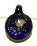 Dichroic Glass Boro Lampwork Focal Pendant *Blue Moon