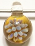 Flower Implosion Lampwork Glass Focal Pendant #3