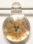 Flower Implosion Glass Focal Pendant by Mark Black #15