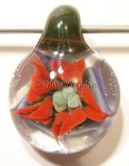 Flower Implosion Glass Focal Pendant by Mark Black #23