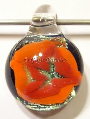 Abstract Implosion Glass Focal Pendant by Mark Black #25