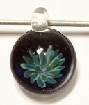 Flower Implosion Lampwork Glass Focal Pendant by Chris Patyk