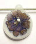 Glass Focal Pendant *Opal Geisha Blossom Implosion