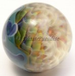 Rattichelo Implosion Art Glass Marble by Mark Black 36mm