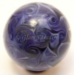 Violet Pinwheel Frenzy Art Glass Marble by Mark Black 32mm
