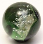 Malachite Air Trap Art Glass Marble by Mark Black 27mm
