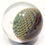 Travichello Contemporary Art Glass Marble by Travis Weber 39mm
