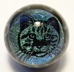 Cat / Eye Dichroic Glass Marble by Mark Black 26mm