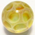 Amber Art Glass Marble by Mark Black 32mm