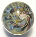 Alien Opalescent Art Glass Marble by Mark Black 29mm