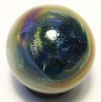 Cosmic Colorball Art Glass Marble by Mark Black 20mm