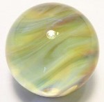 Exquisite Amber Art Glass Marble by Mark Black 26mm
