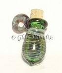 Lampwork Mini Vessel Art Glass Pendant Aromatherapy Bead #60
