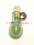 Lampwork Mini Vessel Art Glass Pendant Aromatherapy Bead #62