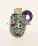 Lampwork Mini Vessel Art Glass Pendant Aromatherapy Bead #61