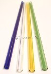 Festive Four Handmade Glass Drinking Straws by Glass Paradise