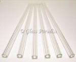Set of Handmade Clear Pyrex Glass Drinking Straws by Glass Paradise