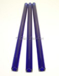 Smoothie Set of Handmade Cobalt Blue Glass Drinking Straws by Glass Paradise