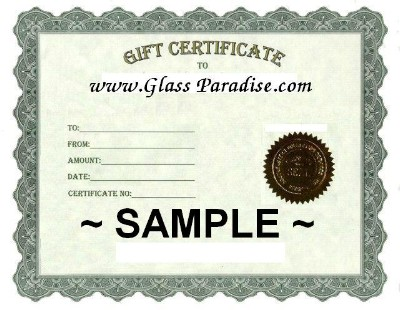 Glass Paradise Gift Certificate