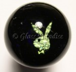 Cobalt Bunny Dichroic Art Glass Wine Stopper by Mark Black