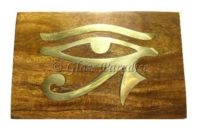 Eye of Horus Carved Wood Box *Resin Incense Gift Pack