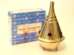 Brass Cone Incense Burner w/ Nag Champa *Meditation Yoga