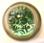 Art Glass Dichroic Papaeweight by Cisco 45mm